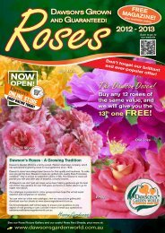 2012 - 2013 Rose Catalogue - Dawson's Garden World