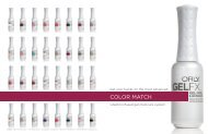 To view Orly Gel FX catalogue click here - Celtine