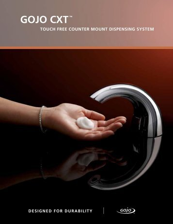 gojo cxt™ touch free counter mount dispensing system