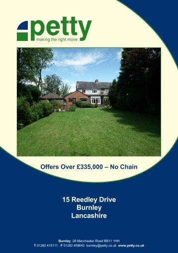 15 Reedley Drive Burnley Lancashire - Petty Estate Agents