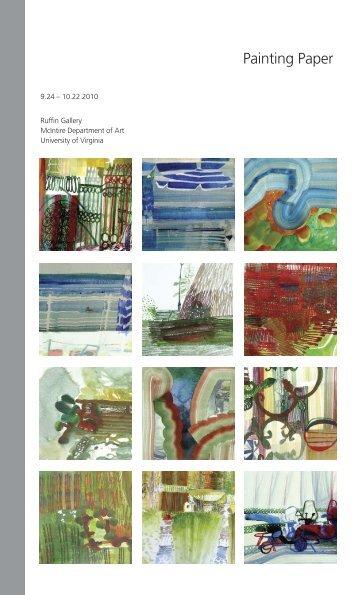 paper catalogue4:art dept catalogue - University of Virginia