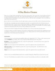 10 Day Biotics Cleanse - Wellness With Rose
