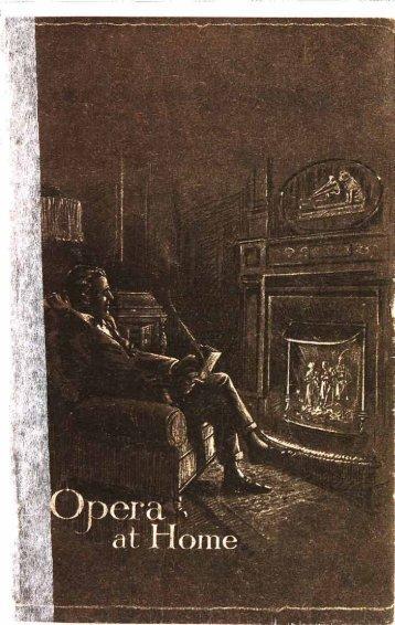His Master's Voice Opera at Home Catalogue 1920 - British Library ...