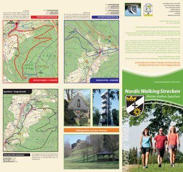 Nordic Walking Strecken - Gemeinde Motten
