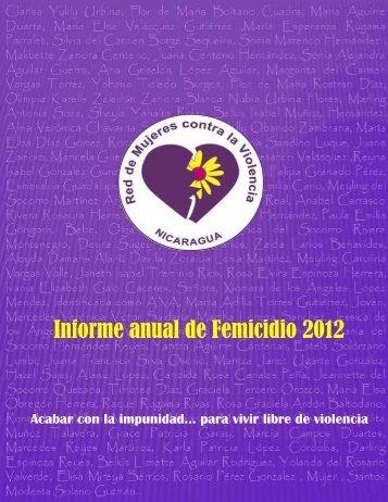 Informe anual de Femicidio 2012