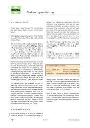 Bedienungsanleitung - SMS-News Media GmbH