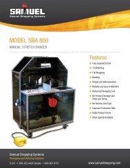MODEL SBA 800 - Samuel Strapping Systems