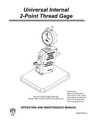 Vermont Gage 301190540 1 5//8-12 UN 2B Go And No-Go Trilock Gage Assembly