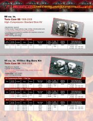 Twin Cam 88/96 Piston Kits - Wiseco