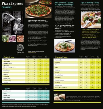 calories and nutrition - Pizza Express