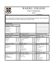 Year 13 Stationery List - Waiuku College