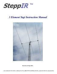 3 Element Yagi Instruction Manual