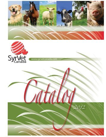 Catalogue 2012 - Syrvet Canada