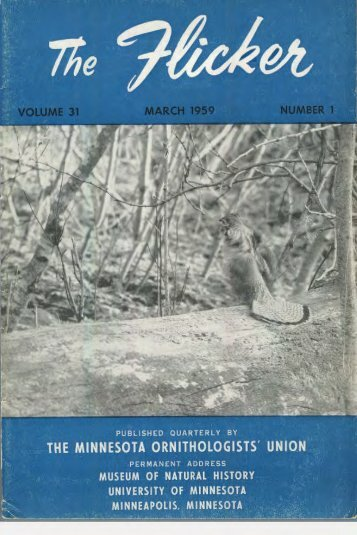 1959 - Minnesota Ornithologists' Union