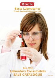 Laboratory Consumables SALE CATALOGUE - Bacto Laboratories
