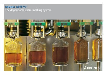 krones Isofill VV The dependable vacuum filling system - Krones AG