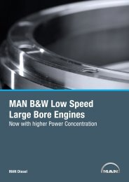 MAN B&W Low Speed Large Bore Engines - MAN Diesel & Turbo SE