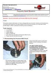 Clean your Midi Chuck - Teknatool