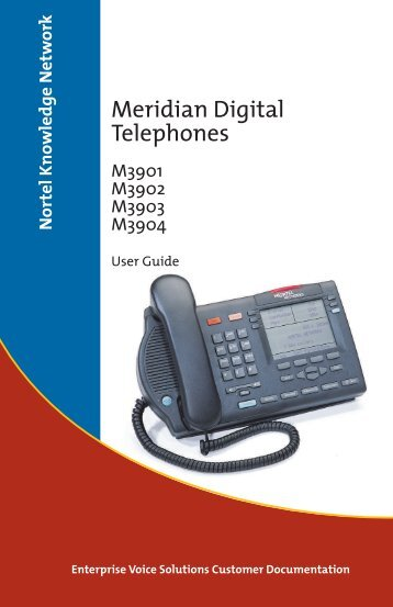 Meridian Digital Telephone User Guide - DivTLC
