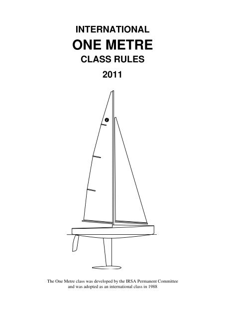 International One Metre Class Rules 2011