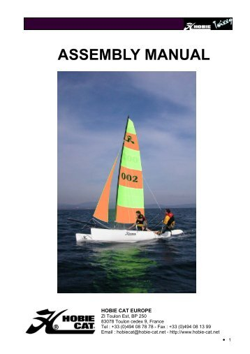 Hobie 16 Assembly Manual Acrobat Pdf 46mb Mariner Sails