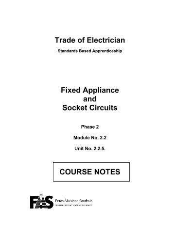 Fixed Appliances and Socket Circuits - eCollege