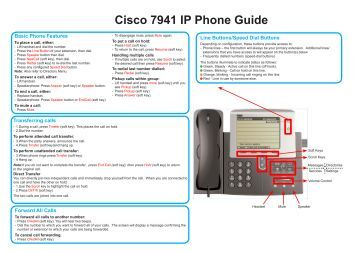 Cisco 7940 Quick Reference Guide