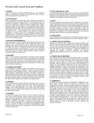 Purchase Order General Terms and Conditions - Carl Zeiss SMT