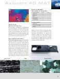 Axiovert 40 MAT Une solide avance - Carl Zeiss - Page 7