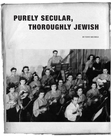 """purely secular"" and ""thoroughly Jewish"