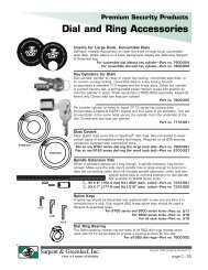 Dial and Ring Accessories - Sargent and Greenleaf