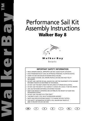 Performance Sail Kit Assembly Instructions - StrikeBoats.com