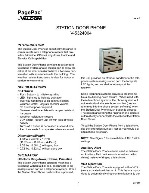 PHONE SYSTEM PUSH Figure on