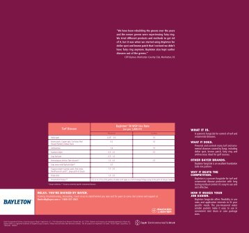 Bayleton 50 WSP Fungicide Reference Guide - Backed by Bayer