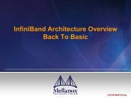 InfiniBand Architecture Overview - HPC Advisory Council
