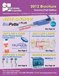 HUGE SAVINGS! BioPette PLUS - Genesee Scientific