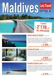 7 jours 2'170.- ALL INCLUSIVE - Lets travel
