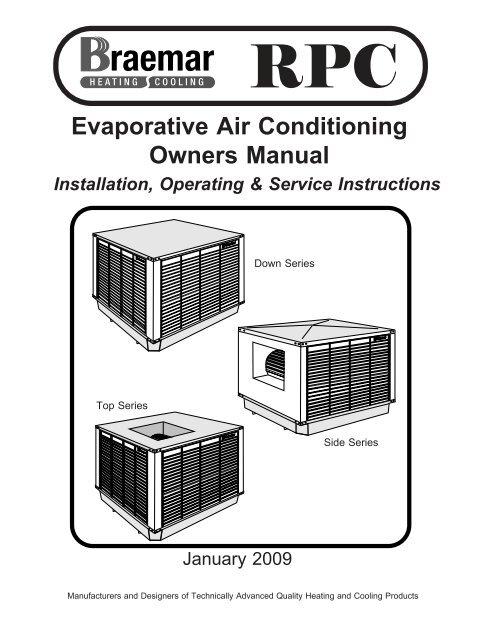 Evaporative Air Conditioning Owners Manual - BraemarYumpu