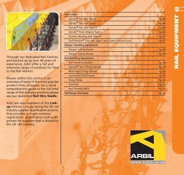 RAIL EQUIPMENT - Arbil Lifting Gear