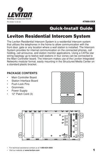 lit-32686 rev_a d8000 and d4200 remote ir stations.qxp - Leviton