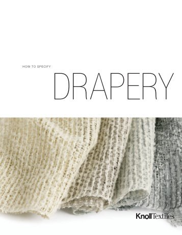 How to Specify Drapery - Knoll