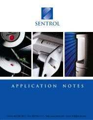 GE Sentrol Application Notes, Installation Ideas & Tips - Clearwater ...