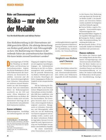 Risiko – nur eine Seite der Medaille D - i-Risk GmbH
