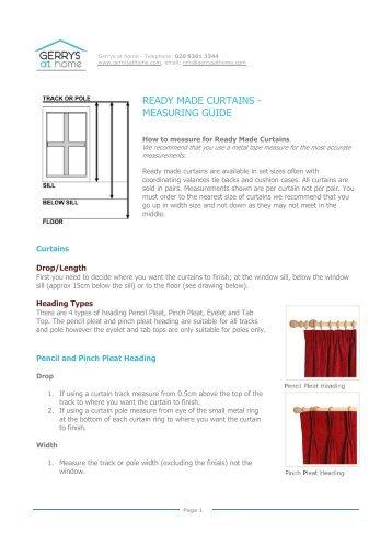 Ready Made Curtains Measuring Guide Curtain Menzilperde Net