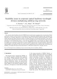 Scalability issues in corporate optical backbone wavelength division ...