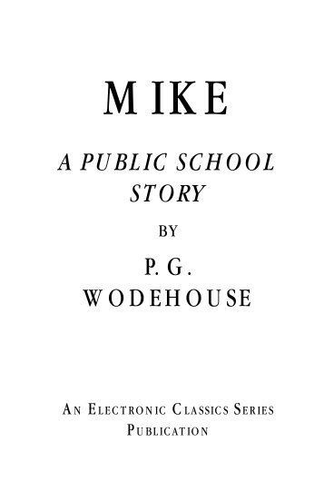 a public school story pg wodehouse - Penn State University