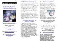 Personnel Monitors: Radiation Dosimeters