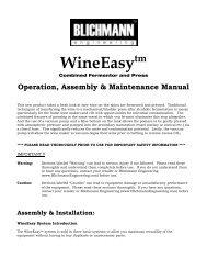 Wine Press Owners Manual-V3 - Blichmann Engineering