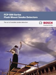 FCP-500 Series Flush Mount Smoke Detectors - Bosch