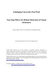 Non-ring Filters for Robust Detection of Linear Structures - DiVA